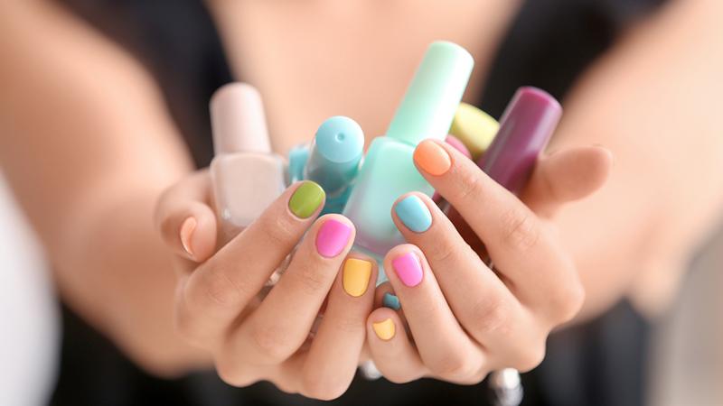skittles manicure