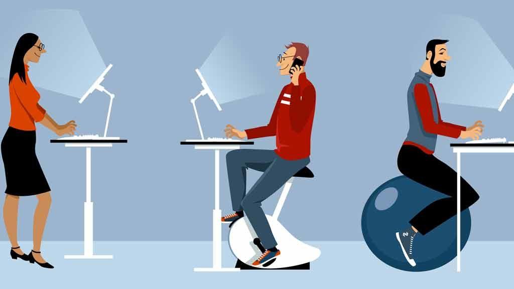 Bici da scrivania contro la sedentarietà in ufficio