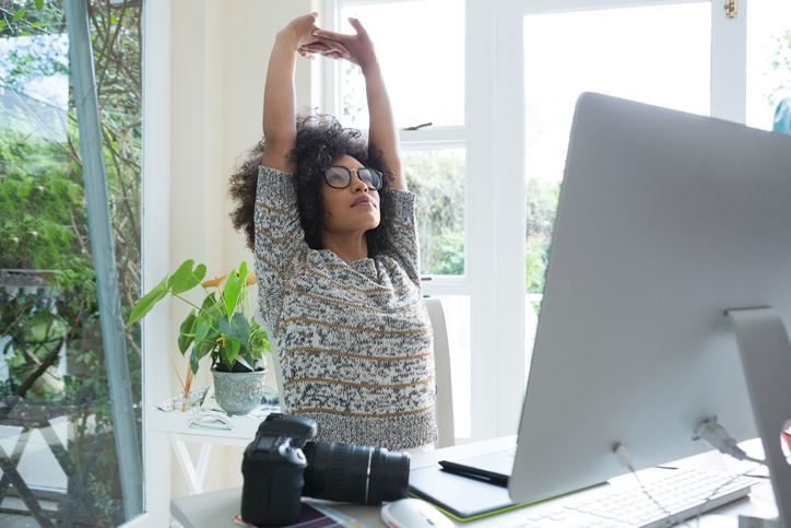 stretching davanti al computer