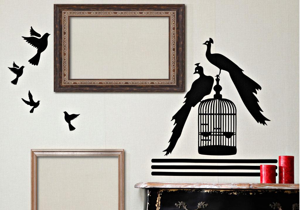 parete con stencil