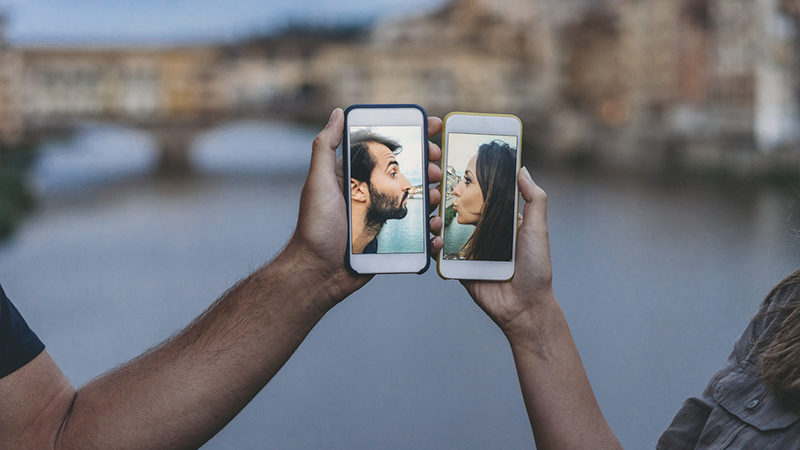 relazioni a distanza bacio