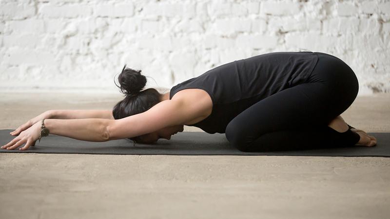stretching, balasana