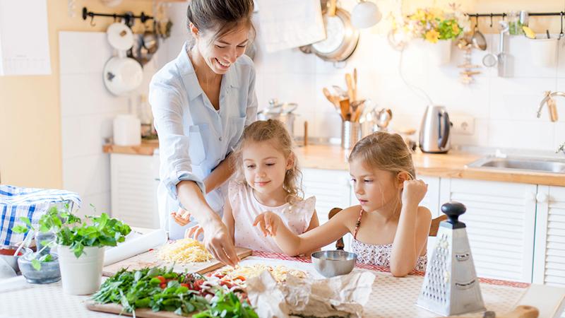 famiglia, cucinare