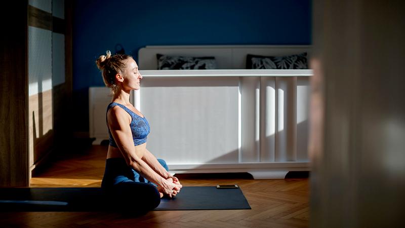 stretching, respirazione