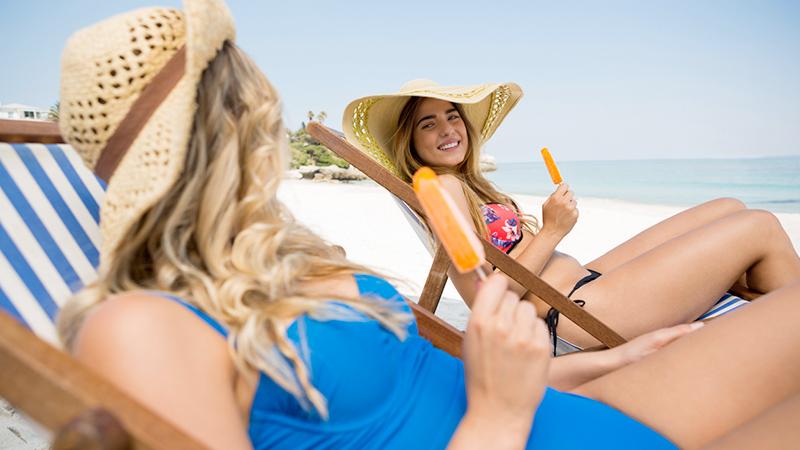 beach food, gelato