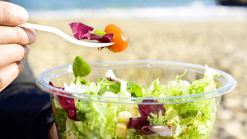 beach food, insalata