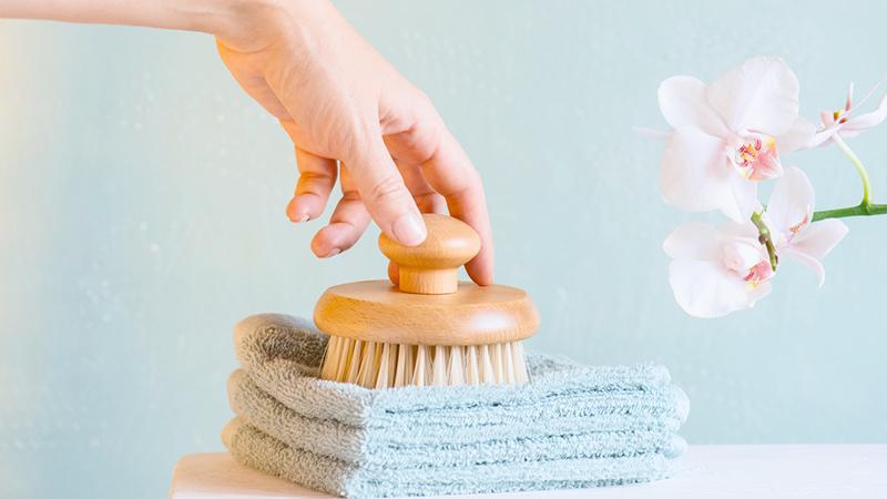 dry brushing, spazzola