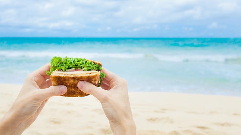 beach food, panino