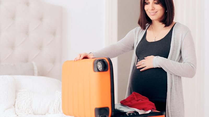 valigia per il parto, vestiti