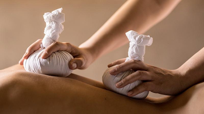 massaggio con calore