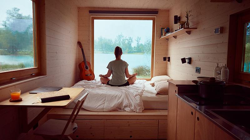 Una stanza immersa nella natura per sfuggire al caos quotidiano