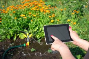 tablet e irrigazione piante