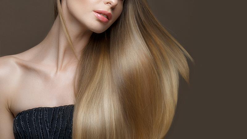 capelli lunghi lucenti